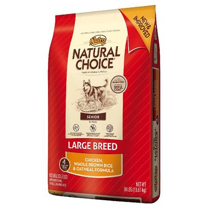 Nutro Presents Nutro Natural Choice Large Breed Senior Chicken Meal Whole Brown Rice &amp; Oatmeal Formula 35lb Bag. For a Senior Large Breed Dog, Premium Food that Supports a Healthy Heart and Strong Bones is Essential. Nutro's Senior Support System Formula in Natural Choice Large Breed Senior Dog Food Contains Antioxidants to Maintain Immunity, Omega-3 Fatty Acids for Joint Health and Natural Sources of Amino Acids to Support Heart Health. This Natural Senior Dog Food Uses U.S.-Farm-Raised Chicken for a Great Taste, and Natural Whole Grains Help Nourish a Healthy Digestive System. And Even though your Dog is Older, they can Still have a Healthy, Shiny Coat with an Omega-6 Fatty Acid (Linoleic Acid), Zinc and B Vitamins. So no Matter the Age of your Senior Dog, they can Enjoy Life to the Fullest. [37422]