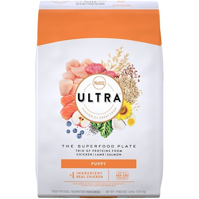Nutro Presents Nutro Ultra Holistic Puppy Dry Dog Food 15lb Bag. Ultra Holistic Dry Puppy Food is Made with Nutrient-Dense, Natural Superfoods for High Levels of Antioxidants and Dha to Give your Puppy a Healthy Heart, Strong Immune System, and Healthy Brain Development. We Know that Puppies Burn a Lot of Energy and Calories Throughout the Day. That's Why the Ultra Brand Created a Specially Formulated all-Natural Dry Puppy Kibble Recipe that's Easy to Chew and Full of Whole Ingredients to Help them Grow Big and Strong. [37465]