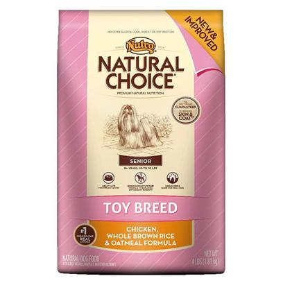 Nutro Presents Nutro Natural Choice Toy Breed Senior Chicken Whole Brown Rice &amp; Oatmeal Formula 4lb Bag. As Toy Breeds Age, their Health Needs can Become More Complex. ThatS Why Natural Choice Toy Breed Senior Dog Food Features our Senior Support System Formula. ItS a Unique Blend of Natural Protein, Antioxidants, Vitamins, Minerals and Amino Acids Designed to Support Senior Dogs Immune Systems and Give them the Energy they Need. Our Dry Dog Food also is Infused with an Omega-6 Fatty Acid (Linoleic Acid), Zinc and B Vitamins to Help with Skin Sensitivity and to Give Toy Breed Dogs a Healthy Coat. Plus, Real Chicken is our #1 Ingredient, so Even the Most Finicky Toy Breed Dogs will Enjoy the Premium Taste. [37496]