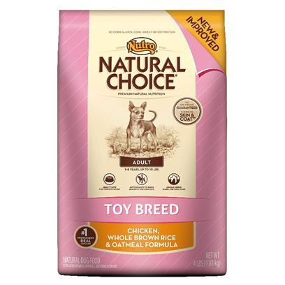 Nutro Presents Nutro Natural Choice Toy Breed Adult Chicken Whole Brown Rice & Oatmeal Formula 4lb Bag. Many Toy Dogs can Live Up to 20 Years, are Frequently Groomed and Often have Higher Energy Levels. That'S Why Natural Choice® Toy Breed Adult Formula Contains our Dnadvantage Blend® Formula, a Unique Blend of Natural Antioxidants, to Nutritionally Rejuvenate your Toy Breed Dog'S Immune System. It'S Made with Real, Farm-Raised Chicken and Other Natural Ingredients to Satisfy Even Finicky Eaters. While your Dog is Enjoying the Great Taste, the Unique Kibble Shape Helps Reduce Plaque and Tartar Buildup. Plus, a Carefully Balanced Level of Omega-6 Fatty Acid (Linoleic Acid), Zinc and B Vitamins also Helps Improve Skin and Coat. Healthy Immune System, Clean Teeth and a Shiny Coat — that'S a Visible Difference! [37497]