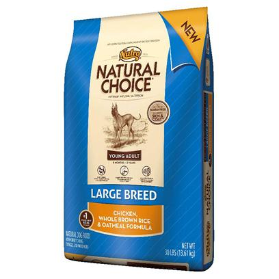 Nutro Presents Nutro Natural Choice Large Breed Young Adult Chicken Whole Brown Rice &amp; Oatmeal Formula 30lb Bag. Large Breed Young Adult Dogs, Between the Ages of 6 Months and 2 Years, Need Targeted Nutrition as they Grow into Adulthood. The Nutro Company is the First Pet Food Company to Offer Natural Dog Food just for Young Adult Dogs. Natural Choice Large Breed Young Adult Dog Food Includes Real Chicken to Help Build Strong Muscles, Dha for Healthy Brain and Nervous System Development, and Naturally-Sourced Glucosamine and Chondroitin for Healthy Joints. Plus, Nutro's Smart Step Formula Offers Optimal Nutrition without the Added Calories that Might Lead to an Overweight Adult Dog. Help your Dog Transition from a Puppy to an Adult while Staying Lean and Strong. [37505]
