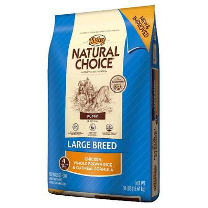 Nutro Presents Nutro Natural Choice Large Breed Puppy Chicken Whole Brown Rice &amp; Oatmeal Formula 30lb Bag. Large Breed Puppies have Unique Needs. Whether itS Developing Strong and Healthy Joints or Ensuring Overall Balanced Growth, they Need Proper Nutrition to Help Keep them Strong and Active. ThatS Why Natural Choice Large Breed Puppy Food Uses Naturally Sourced Glucosamine and Chondroitin to Promote the Development of Healthy Cartilage. With Balanced Protein and Fat for Optimal Growth, this Great-Tasting, Natural Puppy Food also Features U.S.-Farm-Raised Chicken for Strong Muscles and a Healthy Metabolism. Plus, Whole Brown Rice and Oatmeal Provide Easy Digestion for Large Breed Puppies with Sensitive Stomachs. TheyLl Enjoy the Taste, and youLl Love Seeing them Mature into the Happy, Healthy Dogs they were Meant to Be. [37506]