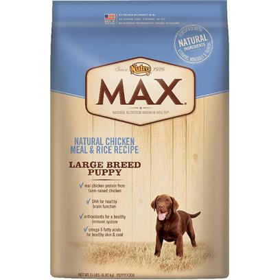 Nutro Presents Nutro Max Natural Chicken Meal &amp; Rice Recipe Large Breed Puppy 5lb Bag. [37510]
