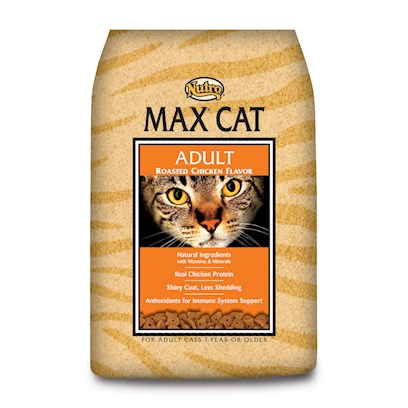 Nutro Presents Nutro Max Cat Adult Roasted Chicken Food 3lb Bag. Nutro Max Cat Adult Roasted Chicken Cat Food. Max® Cat Products are Made with Select Ingredients and the Vitamins and Minerals your Cat Needs for its Health and Wellness. With the Taste of Real Chicken, your Cat will Find Max® Cat Products Irresistible! Max® Cat Products Provide Rich Sources of Omega-6 and Omega-3 Fatty Acids to Help Provide for a Rich, Glossy Coat and Supple Skin. [37559]