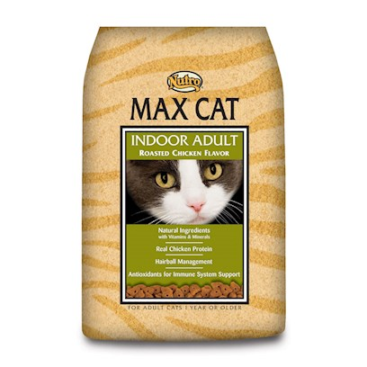 Nutro Presents Nutro Max Cat Indoor Adult Chicken Food 3lb Bag. Nutro Max Cat Indoor Adult Chicken Cat Food. Max® Cat Products are Made with Select Ingredients and the Vitamins and Minerals your Cat Needs for its Health and Wellness. With the Taste of Real Chicken, your Cat will Find Max® Cat Products Irresistible! Max® Cat Products Provide Rich Sources of Omega-6 and Omega-3 Fatty Acids to Help Provide for a Rich, Glossy Coat and Supple Skin. [37563]