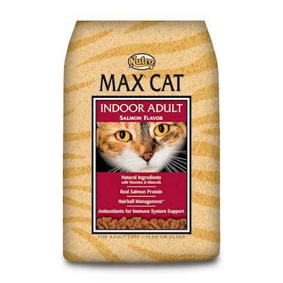 Nutro Presents Nutro Max Cat Indoor Salmon Food` 3lb Bag. Nutro Max Cat Indoor Salmon Cat Food. Max® Cat Products are Made with Select Ingredients and the Vitamins and Minerals your Cat Needs for its Health and Wellness. We'Ve Added Real Salmon Protein which Adds to the Taste Cats Find Irresistible! Max® Cat Products Provide Rich Sources of Omega-6 and Omega-3 Fatty Acids to Help Provide for a Rich, Glossy Coat and Supple Skin.Highly Digestible Natural Ingredients — Fortified with Essential Vitamins, Minerals and Taurine — Truly Make the Difference. Max® Cat Products are Naturally Preserved — no Artificial Chemicals Like Bha, Bht or Ethoxyquin. We do not Add Artificial Colors, Flavors or Sweeteners. Max® Cat Food Uses Easy to Digest Ground Rice and Ground Whole Wheat; Never any Sorghum or Ground Corn, Whole Grain Corn, Corn Meal or Corn Grits — which can be More Difficult to Digest. [37565]