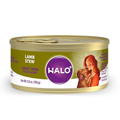 Halo Presents Halo Spot's Stew for Dogs Wholesome Lamb Recipe 13.2oz-Case of 12. Halo Spot's Stew Wholesome Lamb Recipe has been the 'Gold Standard' in Natural Dog Food for over 25 Years. Only the Highest Quality Protein Whole Meats and Grains, Fresh Vegetables Giving this Original Recipe a Superb Taste and Digestibility. There is Absolutely no Inferior by-Products, Rendered Meats or Meals. Spot's Stew's Wholesome Lamb Recipe is Formulated for Optimum Protein and Complete Nutrition Helping to Keep Body Tone and Rebuild Body Tissue. And Better yet, it is Ideal for all Life Stages. So Whether you have a New Puppy or Senior Dog, Spot's Stew Wholesome Lamb is the Right Choice for your Canine Friend. [37676]