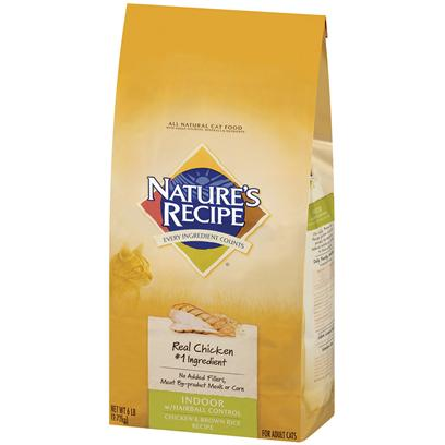 Nature's Recipe Chicken & Brown Rice Indoor with Hairball Control Adult Cat Food