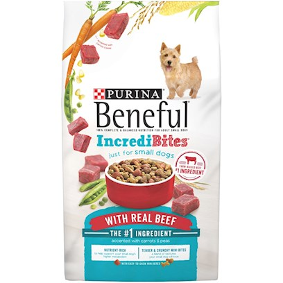 Purina Presents Purina Beneful Incredibites Dry Dog Food 15.5lb Bag. Purina Beneful Incredibites is Another Way you can Help your Dog have it all  Taste, Nutrition, Health, and Happiness. Every Piece is Small Sized, Easy to Chew and Fun to Eat for your Smaller Dog. ItS Made with Wholesome Grains and Real Beef, and Accented with Vitamin-Rich Vegetables. [37872]