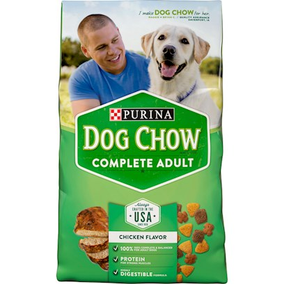 Purina Presents Purina Dog Chow Complete &amp; Balanced 42lb Bag. Purina Dog Chow Complete &amp; Balanced is Made with Whole Grains, High Quality Sources of Protein, and 23 Vitamins and Minerals Including Antioxidants. Every Bowl Contains a Great Taste and Texture, Plus 100% of the Essential Nutrients your Dog Needs to Help Him Stay Healthy and Happy Day After Day. [37878]