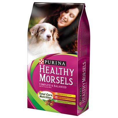 Purina Presents Purina Dog Chow Healthy Morsels Complete &amp; Balanced Soft Crunchy Bites 32lb Bag. Purina Dog Chow Healthy Morsels is Made with Carefully-Selected, High Quality Ingredients Including Protein-Rich Lamb Meal, Vegetable Accents and 23 Vitamins &amp; Minerals. Every Bowl of Soft and Crunchy Kibble Gives your Dog the Nutrition he Needs and the Taste and Texture Variety he Loves. [37879]