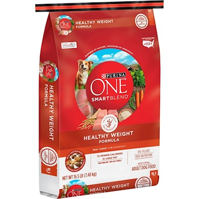 Purina Presents Purina One Smartblend Healthy Weigt Formula for Adult Dogs 16.5lb Bag. Purina One Smartblend Healthy Weigt Formula has Real Turkey as the #1 Ingredient. Why? Because while you Want your Dog to Maintain a Healthy Weight, he should Never Miss what He's Missing. Sure, this Recipe is Lower in Calories, but it's also Tastefully Rich in Protein. One Smartblend have Added Rice for Energy Plus the Goodness of Soy to Promote a Naturally Healthy Weight. See, it's Choosing Ingredients that Work Better Together than they Ever Could on their Own that Inspired us to Call this Bag of Food Smartblend. [37889]