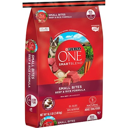 Purina One SmartBlend Small Bites Beef & Rice Formula