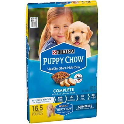 Purina Presents Purina Puppy Chow Complete &amp; Balanced for Growing Puppies 16.5lb Bag. Purina Puppy Chow Complete &amp; Balanced is Formulated for Healthy Growth and Development with High Quality Protein, Dha and Essential Nutrients also Found in Mothers' Milk. Every Bowl Contains a Great Taste and Texture, Plus the Nutrition to Help Lay the Foundation for a Healthy, Active Life. [37909]