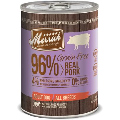 Merrick Grain Free 96% Real Pork Canned Dog Food
