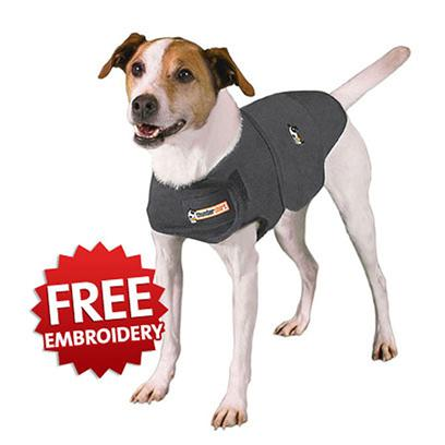 Thundershirt Presents Thundershirt for Dogs-Gray Xxlarge-Greater than 110 Lbs. Thundershirt Uses Gentle Hugging to Calm your Dog or Cat. With its Patented Design, Thundershirt'S Gentle, Constant Pressure has a Dramatic Calming Effect for Most Dogs and Cats if they are Anxious, Fearful or Overexcited. Based on Surveys Completed by over Two Thousand Customers, over 80% of Dogs and Cats Show Significant Improvement in Symptoms when Using Thundershirt. Thundershirt is Already Helping Hundreds of Thousands of Dogs and Cats Around the World and is Recommended by Thousands of Veterinarians and Trainers. How does Thundershirt Work? Experts Believe that Pressure has a Calming Effect on the Nervous System, Possibly by Releasing a Calming Hormone Like Endorphins. Using Pressure to Relieve Anxiety in People and Animals has been a Common Practice for Years. According to our Research, Dog Thunderstorm Anxiety or Fear of Noises can Arise from a Variety or Combination of Factors. Some Dogs have Suffered a Traumatic Event Involving Loud Noises or Lightning Strikes that Creates a Historic 'Trigger' for them to Become Anxious. Some Dog Breeds may have a Genetic Predisposition Towards Noise Anxiety while some Studies Suggest that Storm or Noise Anxiety Could be a Result of Aging or Hearing Loss. No Matter the Specific Cause, the Need to Relieve your Dog'S Fears Becomes Clear when your Dog Hides, Shakes, or Worse Every Time a Storm Rumbles. [38008]