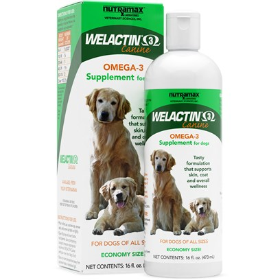 Nutramax Labs Presents Welactin Canine 3 16 Fl Oz. Dogs and People Aren't so Different-we Both Love Playing Outside, Taking Long Walks, and Chasing Cars. And just Like us, Dogs can Benefit from the Power of Fish Oil. Give them Nutramax Welactin, a Rich Source of Omega-3 Fatty Acids Derived from Cold Water Fish. The Tasty Formula Supports Healthy Skin, Normal Heart Rhythm, and Renal Function-all Important Aspects of Overall Health. [38009]