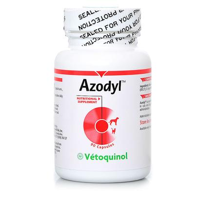 Buy Azodyl 90 Capsules Azodyl is a Patented Formulation of Naturally-Occurring Beneficial Bacteria (Kibow Biotics) that can be Used to Support Renal Health. Azodyl Capsules should be Given Whole and not Opened or Crushed. If Necessary, Administer Capsule with a Piece of the AnimalS Favorite Food or Treat. Keep Refrigerated at 4 C for Best Results. Fresh Water should Always be Available for the Animal. Note Azodyl Requires Refrigeration and Must be Kept at Refrigerator Temperatures at all Times. To Ensure Proper Temperature, this Product Requires Overnight Shipping at an Additional Cost. [38041]