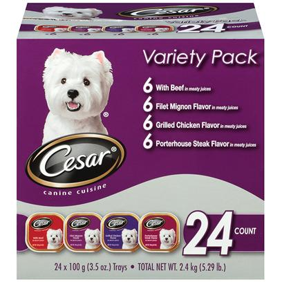 Cesar Canine Cuisine Gourmet Beef Variety Pack