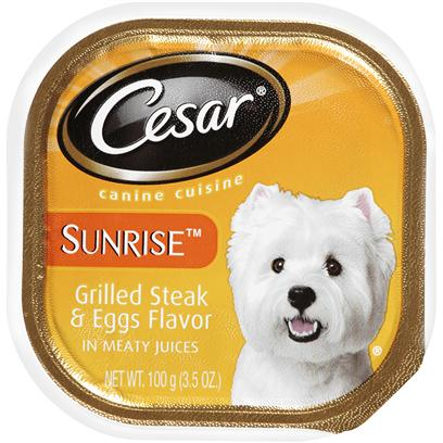 Cesar Canine Cuisine Sunrise Grilled Steak & Eggs Flavor In Meaty Juices Canned Dog Food