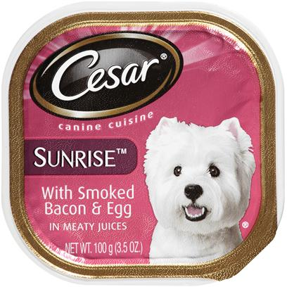 Cesar Canine Cuisine Sunrise With Smoked Bacon & Egg In Meaty Juices