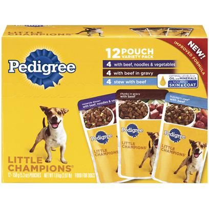 Pedigree Little Champions Ground Beef Variety Pack