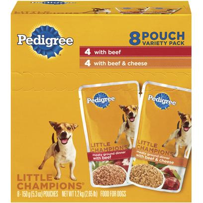Pedigree Little Champions Traditional Ground Beef & Cheese Dinner
