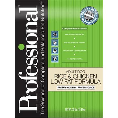 Professional Pet Food Adult Dog Low Fat Chicken & Rice Formula