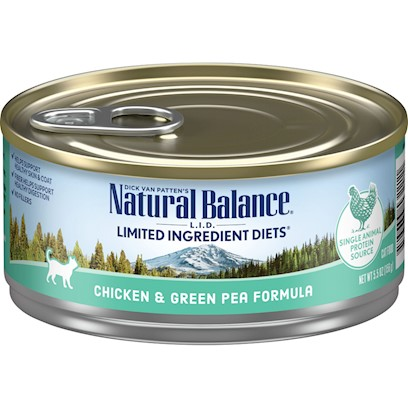 Natural Balance Lid Chicken & Green Pea Canned Cat Recipe
