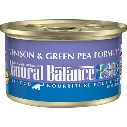 Natural Balance Lid Venison & Pea Canned Dry Recipe for Cats