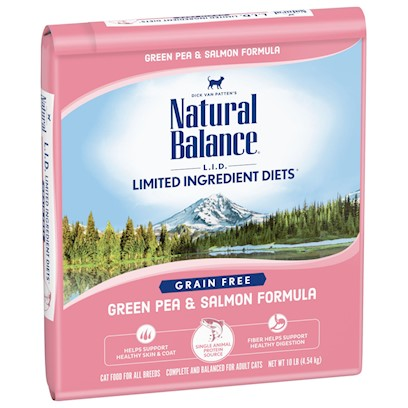 Natural Balance Presents Natural Balance Lid Salmon & Green Pea Dry Cat Recipe 10 Lbs. []