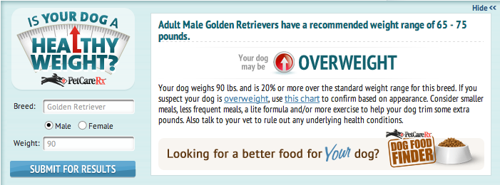 Healthy Dog Weight Tool