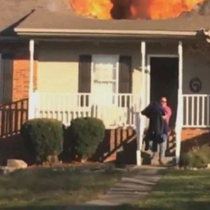 Hero Rushes Into Burning Home to Save Helpless Dog