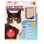 Cat Mate 4 Way Locking Cat Flap - White