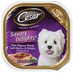 Cesar Canine Cuisine Savory Delights Filet Mignon Flavor With Bacon & Potato In Meaty Juices