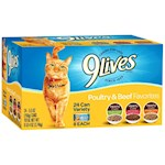 9 Lives Poultry & Beef Favorites Variety Pack