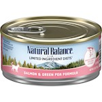 Natural Balance Lid Salmon & Green Pea Canned Cat Recipe