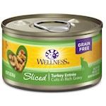 Wellness Grain Free Sliced Turkey Entrée Canned Cat Food
