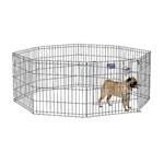 Midwest Black Exercise Pen with Door