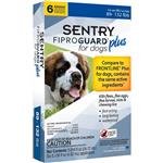 6-PACK SENTRY FiproGuard Plus Flea & Tick Spot-On for Dogs