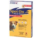 Zodiac Spot On Flea & Tick Control for Small Dogs 16-30 lbs