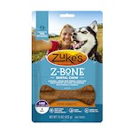 Zukes Z-Bones Edible Dental Chews Large Clean Carrot Crunch