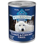 Blue Buffalo Wilderness Turkey and Chicken Grill Senior Canned Dog Food