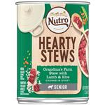 Nutro Senior Hearty Stews Grandma's Farm Stew With Lamb & Rice Chunks In Gravy Canned Dog Food