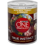 Purina ONE SmartBlend True Instinct with Grain Free Turkey and Venison Tender Cuts in Gravy Canned Dog Food