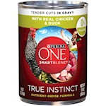 Purina ONE SmartBlend True Instinct with Grain Free Chicken and Duck Tender Cuts in Gravy Canned Dog Food