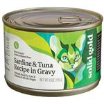Solid Gold Five Oceans Grain Free All Life Stages Sardine and Tuna Recipe Canned Cat Food