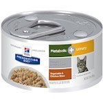Hill's Prescription Diet Metabolic + Urinary, Weight + Urinary Care Canned Cat Food
