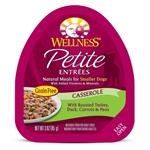 Wellness Petite Entrees Casserole Grain Free Natural Turkey and Duck Recipe Wet Dog Food
