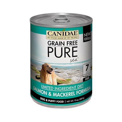 Canidae Grain Free- pure SEA- Salmon and Mackerel Formila Canned Dog Food 13 oz cans / case of 12